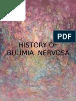 History of Bulimia Nervosa