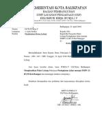 Surat Penghentian Proses Lelang SMPN 23 RT.59 Kel.manggar Ok