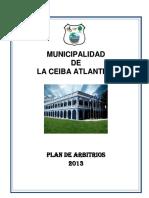 Plan Arbitrios 2013 LA CEIBA