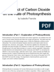 the effect of carbon dioxide on the rate of photosynthesis