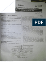 UPTU PAPERS 2014-15 Ground water management