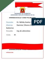 Informe de Hortalizas