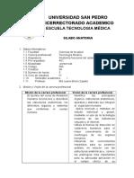 silabus anatomianeuromuscular