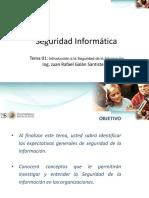 SI - Tema 01 - Introducción a La Seguridad de La Información