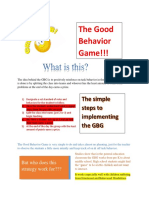 good behavior game strategy