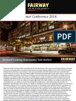 FWM Fairway Market 2014 Summer Conference VFINAL