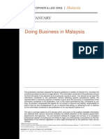 Doing Business in Malaysia Guide Jan 2016
