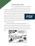 academic essay reflective writing