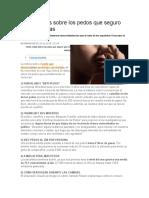 Enciclopedia de Lo Que No Sabías Acerca de Los Pedos