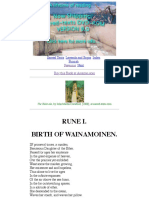 the kalevala  rune i  birth of wainamoinen