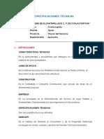 ESPECIFICACIONES TECNICAS CCALACCAPCHA