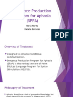 sentence production program for aphasia  sppa  - moritz and brickner