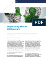 Negotiating a Better Joint Venture
