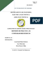 Amplificadores Operacionales en LAzo Abierto (Comparadores)