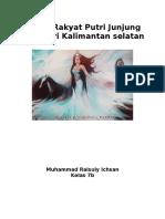 Cerita Rakyat Putri Junjung Buih Dari Kalimantan Selatan