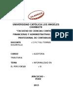 Informalidad en El Perú