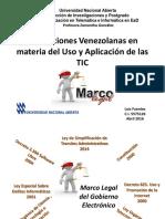 Regulaciones Venezolanas Uso de TIC