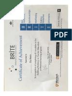 brite certificate  1