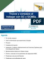 Trucos y Consejos a La Hora de Trabajar Con GC y GCMSs