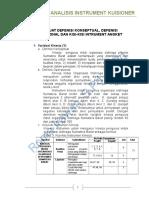 Defenisi Konsptual - Operasional - Kisi Instrument