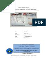 Laporan Praktikum Analia Fisik Suhu, Warna Dan Bau Pada Air Limbah