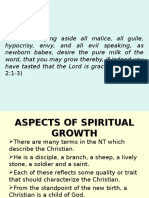 Aspects of Spiritual Growth