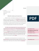 peer review of troys work