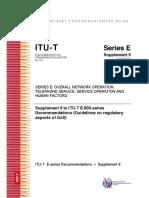 Regulators QoS Approach ITU T.E800 (Highlights)