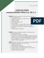 Cotizacion Para Tramites Urbanizadora ATRIO.