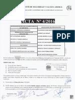 Acta 04/2016 Comité de Seguridad y Salud Laboral UT 2 CV