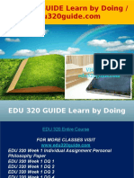 EDU 320 GUIDE Learn by Doing - Edu320guide.com