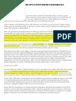 SAP NETWEAVER APPLICATION SERVER FUNDAMENTALS