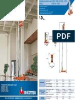 Plataforma Un Mastil GTWY 6-8-10mts