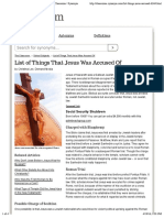 List of Things That Jesus Was Accused Of | The Classroom | Synonym
