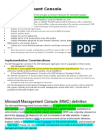 SAP Management console