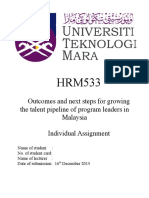 Outcomes and Next Steps for Growing the Talent Pipeline of Program Leaders in Malaysia
