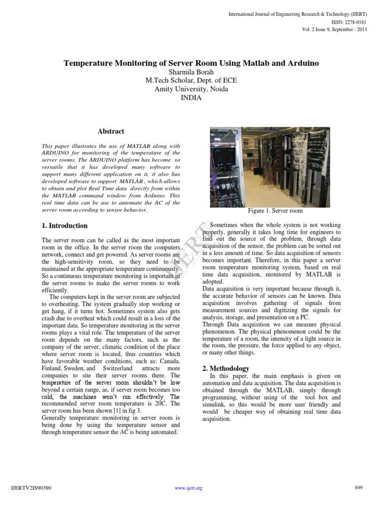 monitoring sistem termal dengan matlab | Arduino | Matlab