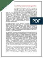 El Referéndum de 1931 y Las Autonomías Regionales