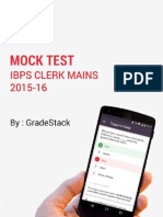 IBPS Clerk 2015 Mans Mock Test 1