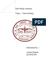 Data mining self study report