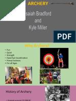 archery presentation-kyle and isaiah