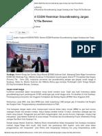 SIARAN PERS_ Menteri ESDM Resmikan Groundbreaking Jargas Surabaya Dan Tinjau PLTSa Benowo
