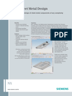 Siemens PLM NX Sheet Metal Design Fs X5