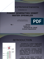 Power Generating Sprinkler