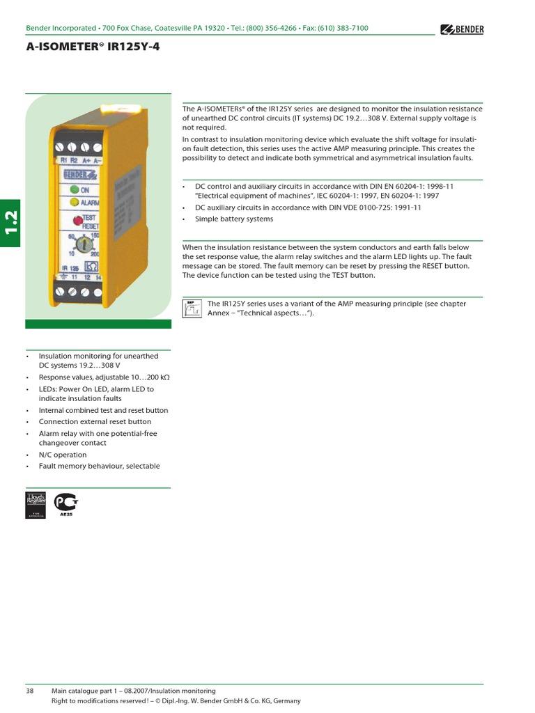 Ir125y Relay Insulator Electricity Dc Working Principle