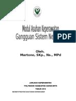 MODUL ASKEP GANGGUAN SISTEM NEUROLOGI 2016.doc