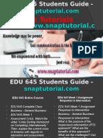 EDU 645 Slingshot Academy/snaptutorial