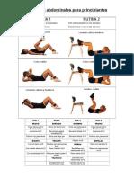 Tabla de Ejercicios de Musculación Básicos