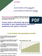 crecimento populacional