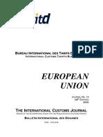 THE INTERNATIONAL CUSTOMS JOURNAL
